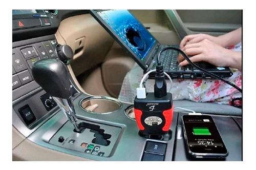 inversor de corriente automotriz 12v 110v 75w coche usb