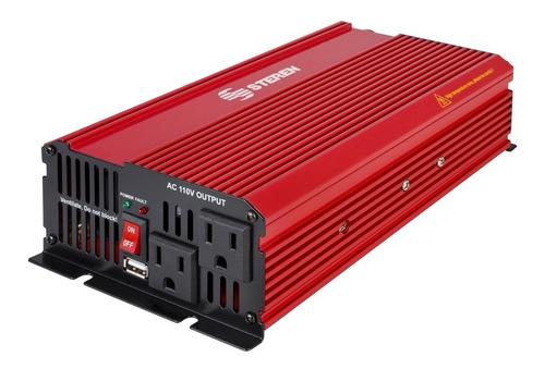inversor de corriente automotriz steren 1000w inv-1000 usb