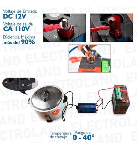 inversor de corriente conversor 2000w 12v - 220v dc a ac