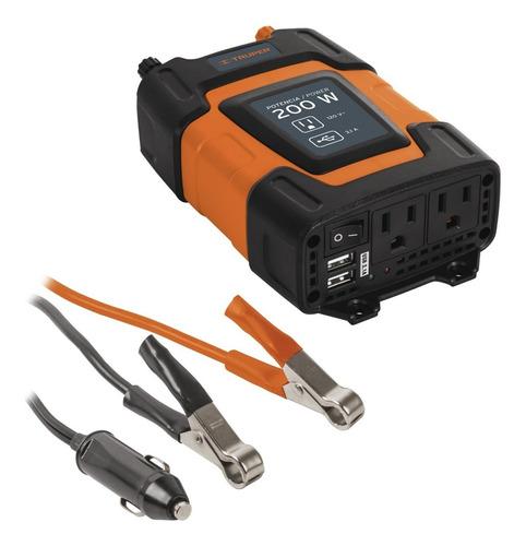 inversor de corriente dual con puerto usb 200 w truper 10448