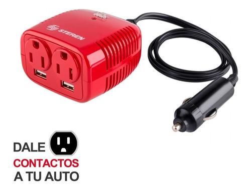 inversor de corriente para auto de 150 w con 2 puertos usb