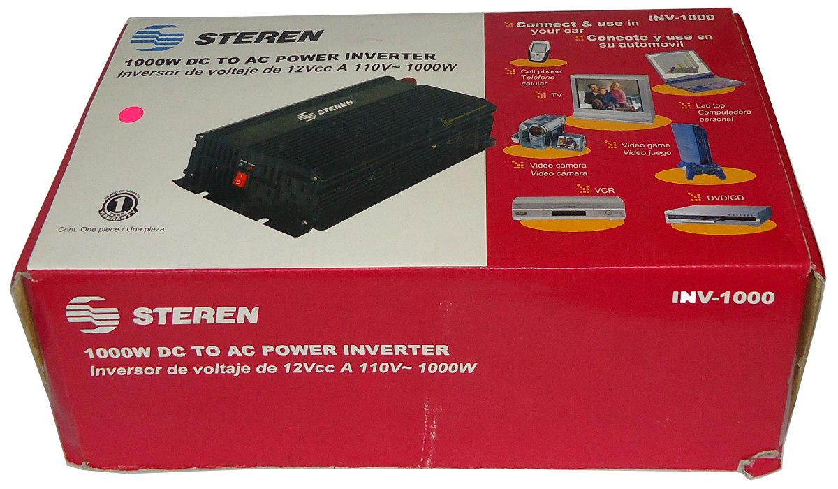 Inversor de corriente steren 1000w corriente directa - Inversor de corriente ...
