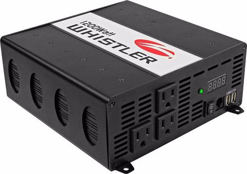 inversor de corriente whistler xp1200i usb 1200w 2400w 110v