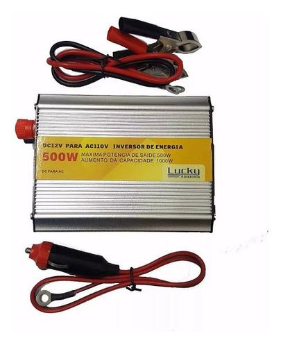 inversor de energia veicular 12 v para 110 v - 500 watts