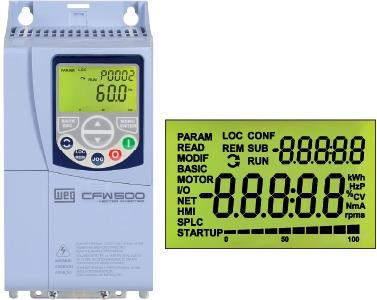 inversor de frequência weg cfw500 10cv 220v 28a 12608407