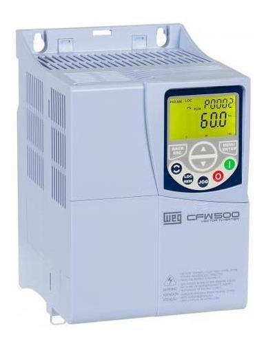 inversor de frequência weg cfw500 7,5cv 220v 24a trifásico