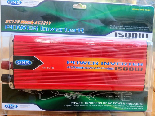 inversor  de voltage 12v a 220vac 1500 watts