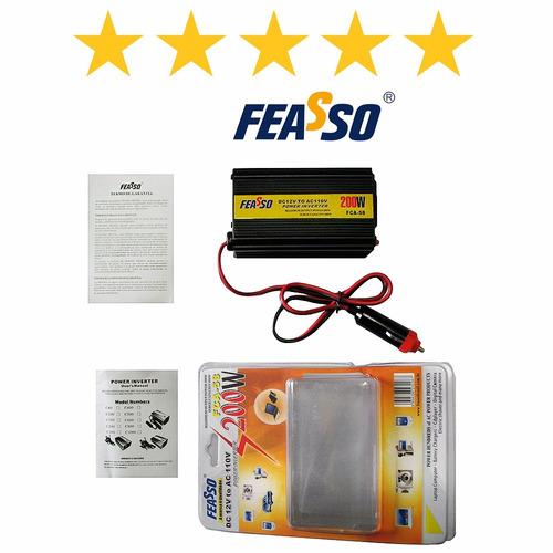 inversor fca-58 veicular 200w 12v dc 110v ac + usb !