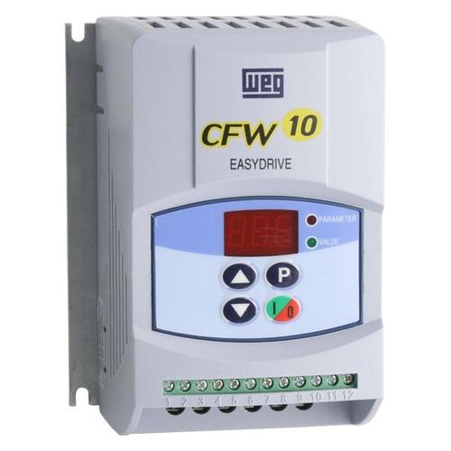inversor frequência  cfw10 2cv  220v 7,3a standart mono weg