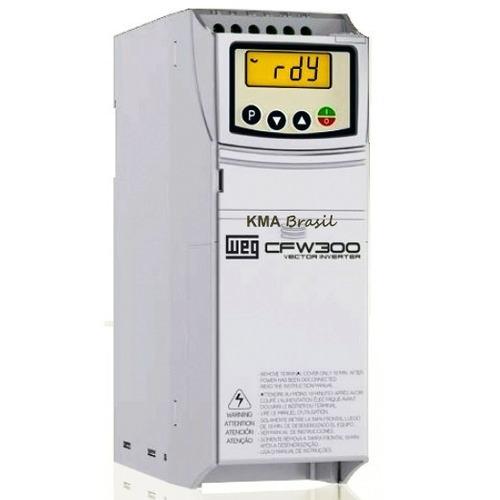 inversor frequência weg cfw300 5cv trifásico 220v-220v 15,2a