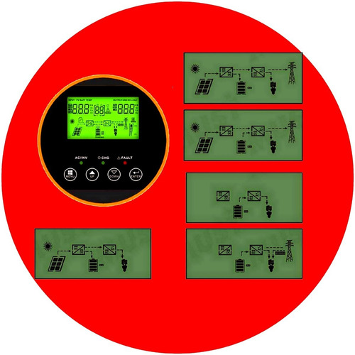 inversor must híbrido monofasico 15kw a 30kw  kit solar ups