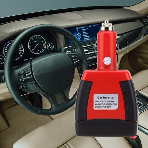 inversor para carro 150 watt convierte 12vdc a 110vac