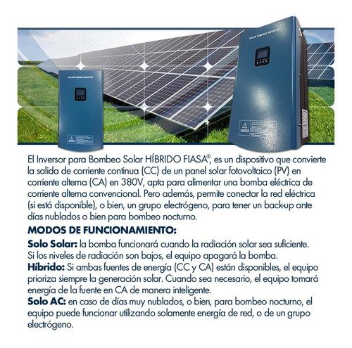 inversor p/bombeo solar híbrido fiasa® hsph7500h 230231010