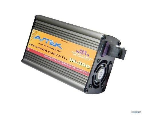 inversor portatil avtek in-300 600 wattios 12v a 110v