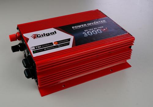 inversor senoidal conversor 3000w 12v p/ 110v - 3.000 watts