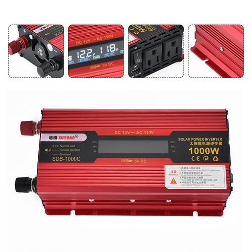 inversor  solar 12v 110v 2000w envio rápido red