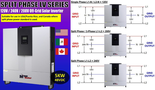inversor solar cargador 5kw cfe mppt ups off-grid no break