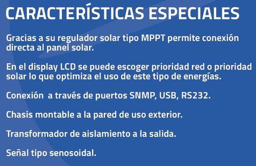 inversor solar - cargador mppt - ups 2500w , lcd 120v ac