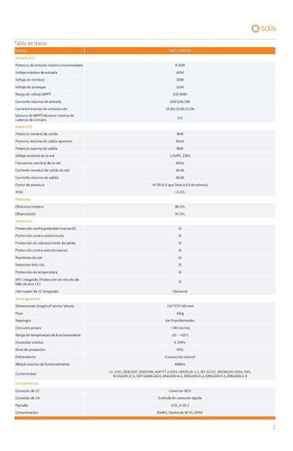 inversor solis de 8kw a 220v, 3 mppt, 2 fases, incl. dc disc