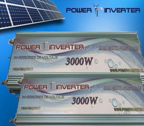 inversor voltaje 12v/220v 3000w somos los expertos!