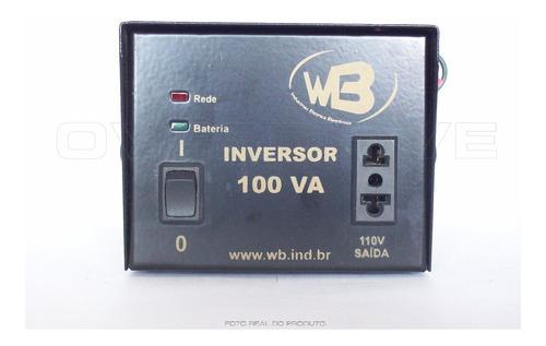 inversor wb ivr-100 onda quadrada 12vcc para 110vca 70w