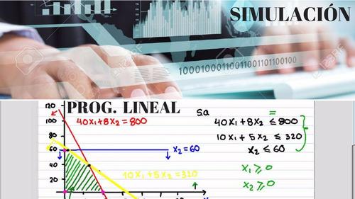 investigación operaciones-programación lineal-simulación-iop