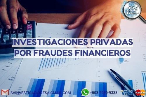investigaciones por fraude financiero