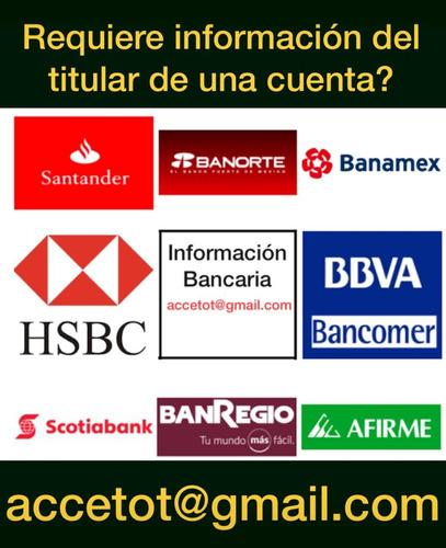 investigador cuentas bancarias investigaciones financieras