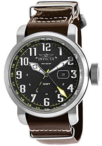 61a81f9b8de3 Invicta 18886 Reloj Aviador Gmt Marrón Genuino De Cuero -   119.990 ...