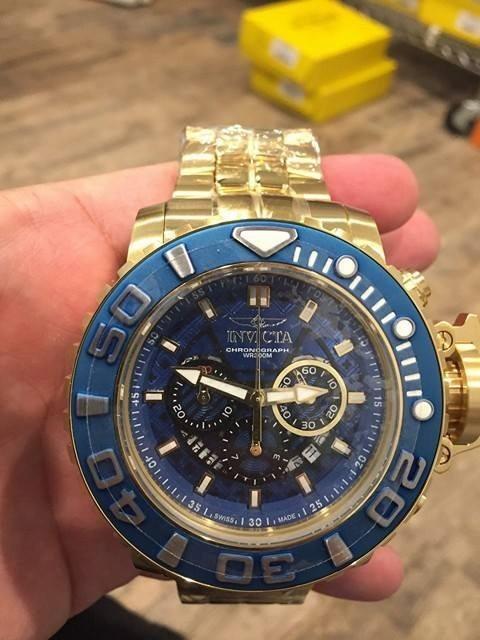 dec22decbc5 Invicta 22134 Sea Hunter Iii Lançamento Top Azul Full Sized - R ...