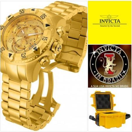 2ba8d5f5ab7 Invicta 6471 14473 Original Swiss B.ouro 18k C maleta 1 Slot - R ...