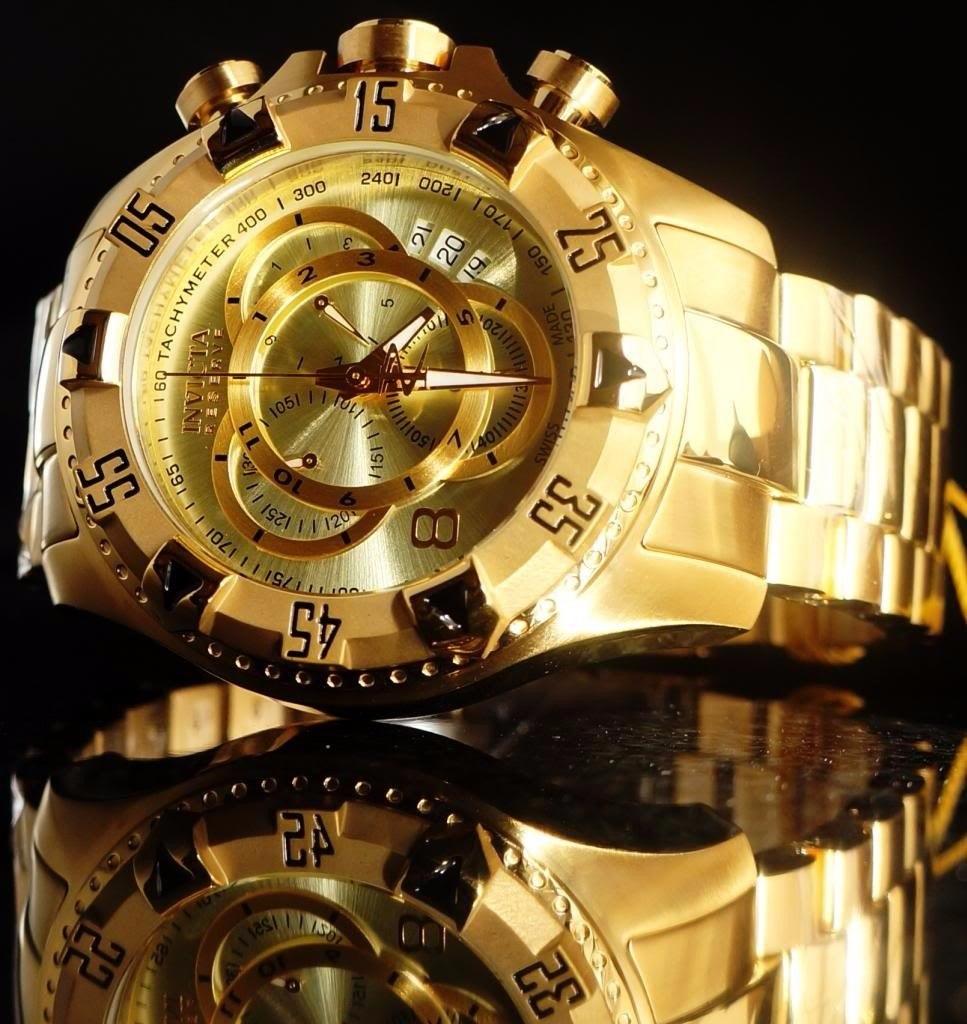 1000facaf42 invicta 6471 14473 swiss original banhado ouro 18k c  maleta. Carregando  zoom.