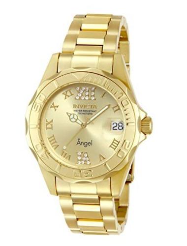invicta angel 14397  gold reloj mujer
