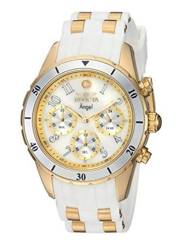 invicta angel 24901 white/gold   reloj mujer