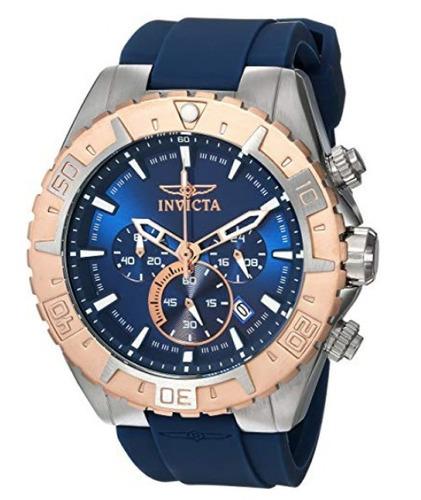 invicta aviator 22523 blue reloj  hombre