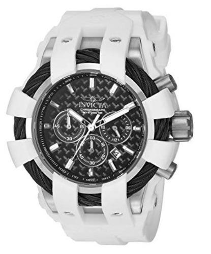 invicta  bolt 23856  white / black  reloj hombre