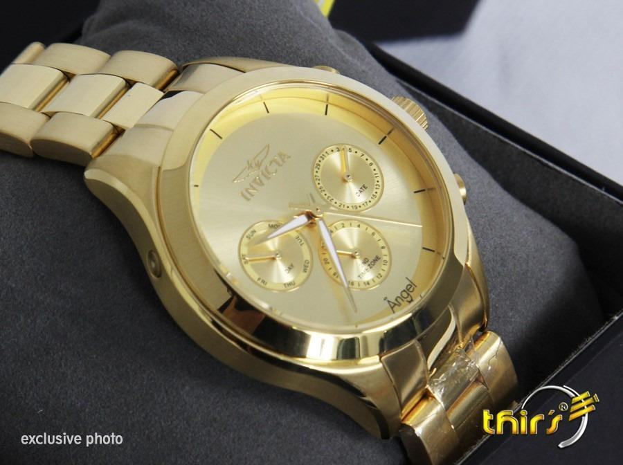 Invicta Feminino Angel 12466 40mm Banhado A Ouro 18 K Lindo - R  899 ... d07812a3713
