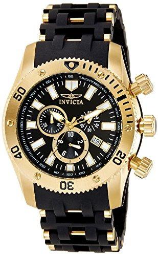 invicta hombre 0140 sea spider colección oro 18k ion-platea
