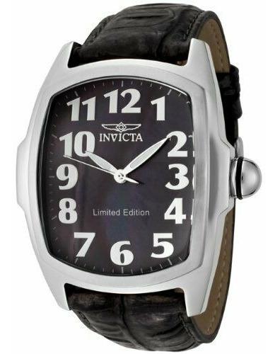 invicta lupah 0399 leather watch
