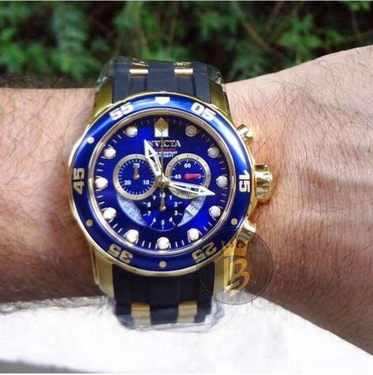 415be2acc21 invicta masculino relógio · relógio invicta pro diver 6983 dourado masculino  c  garantia