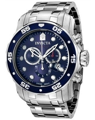 invicta men's 0070 pro diver collection chronograph stainles