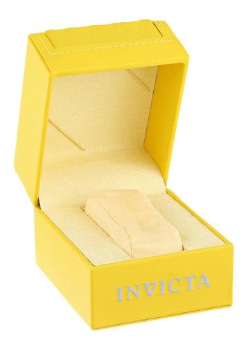 invicta men's 0765 ii collection silver dial reloj de cuero