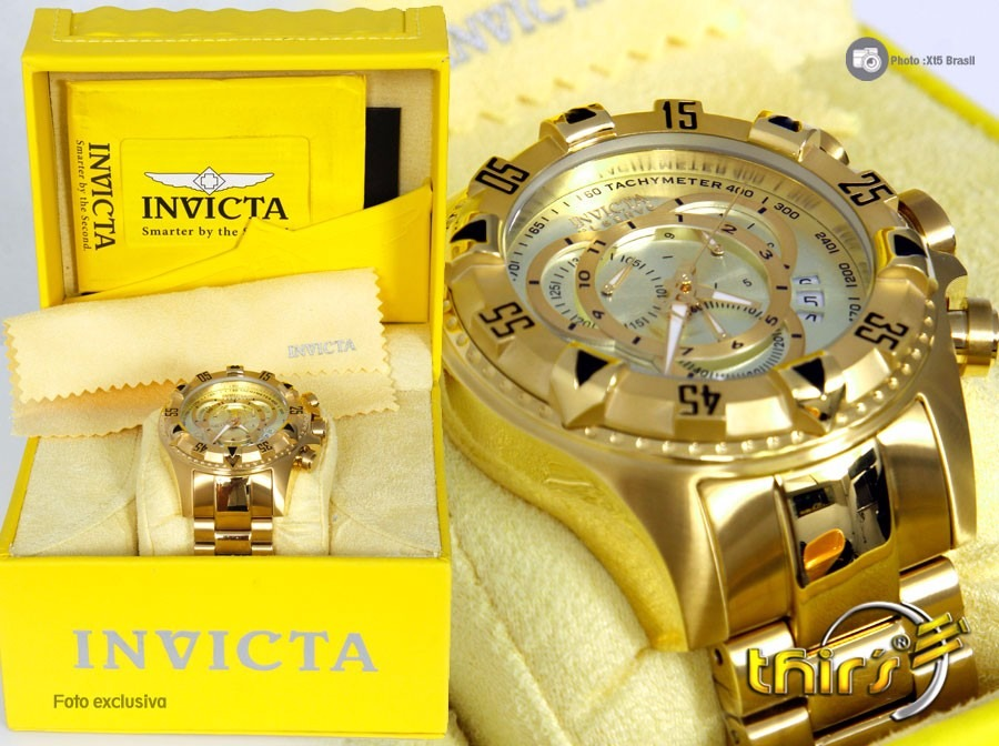 bfc62fbddf6 Invicta Original Excursion Reserve 6471 - Banhado Ouro 18k - R ...