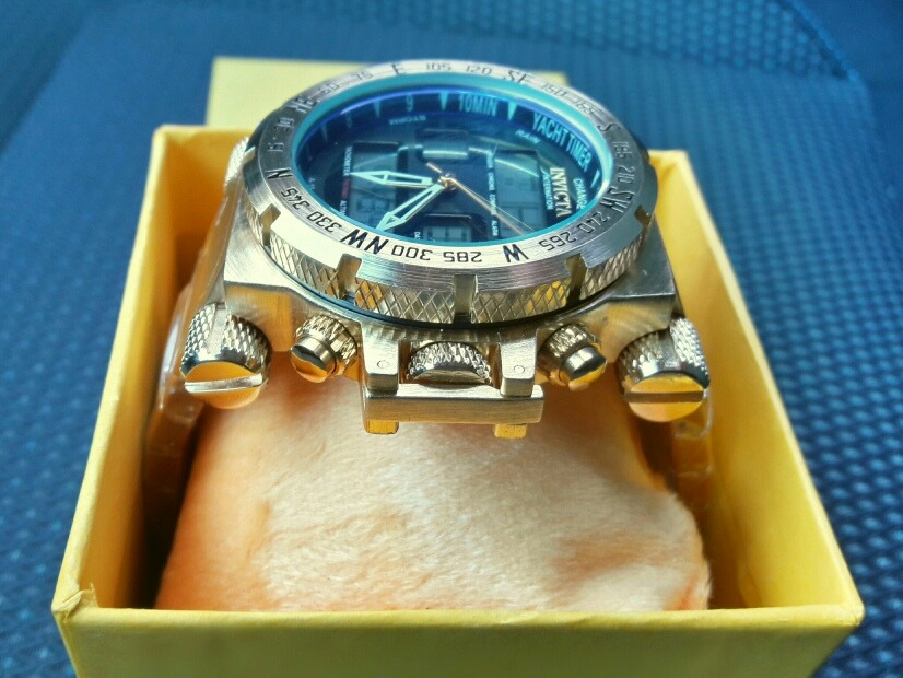 e3c52f19a18 invicta ouro relógio masculino barato digital pulseira luxo. Carregando  zoom.