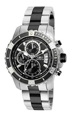 invicta pro diver  22416  silver black  reloj  hombre