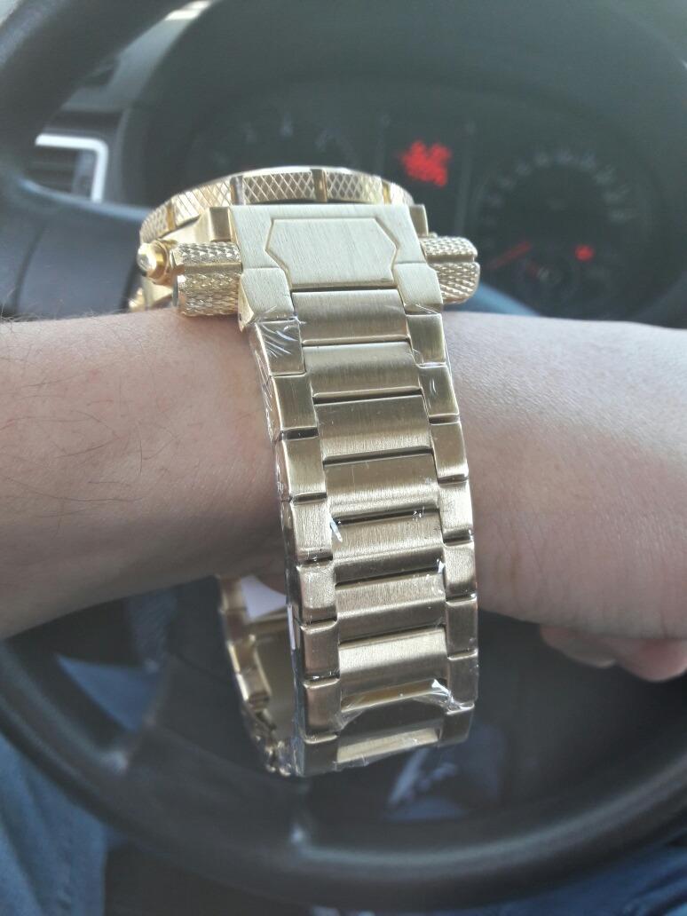 c04f35fd0ee invicta relógio masculino barato digital f. dourado pulseira. Carregando  zoom... invicta relógio masculino. Carregando zoom.