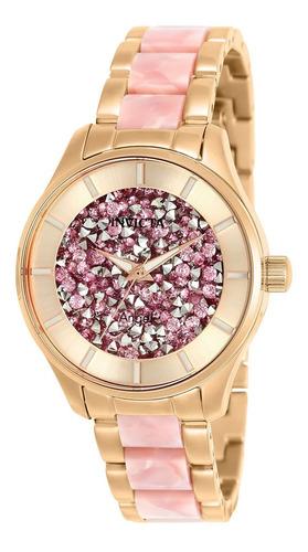 invicta - reloj 25244 angel stainless steel para mujer