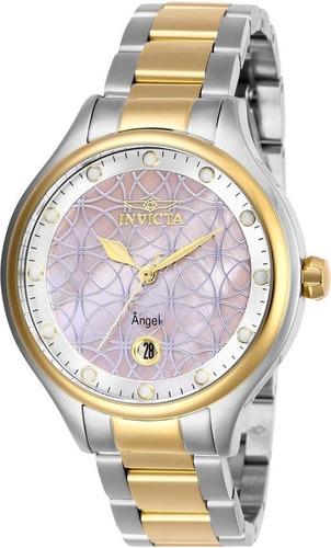 invicta - reloj 27766 angel quartz stainless-steel strap par