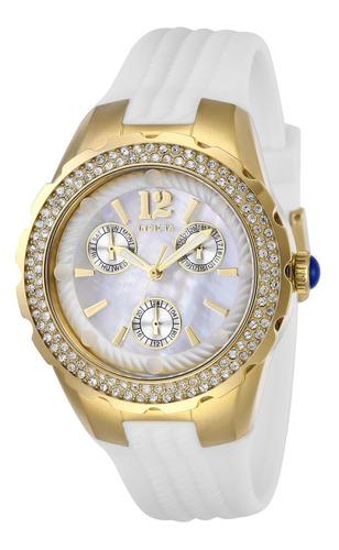 invicta - reloj 29086 angel stainless steel para mujer