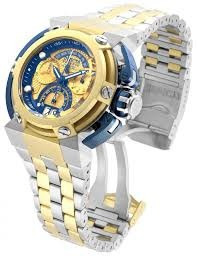 invicta reserve blue gold 16048